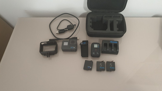 Camera Gopro Hero 7 Black + Controle Remoto + 3 Bat + Access