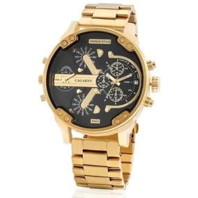 Relógio Cargany Masculino Luxo Grande E Estiloso