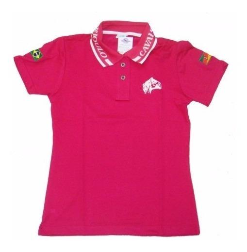 Polo Cavalo Crioulo Feminina Pink