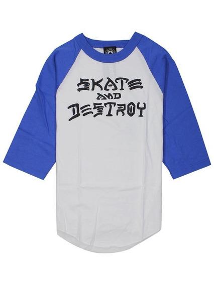Playera 3/4 Skate And Destroy