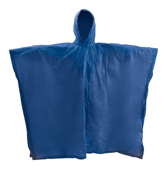 Impermeable Azul Tipo Poncho Foy 144145 Capucha 29910275