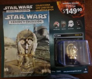 ** Lole ** Coleccion Cascos 1/5 Star Wars - C3- P O Nº 2 ***
