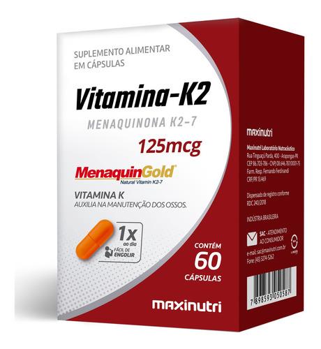 Vitamina K2 Menaquinona K2-7 125mcg Com 60 Cápsulas