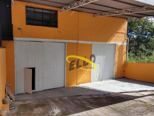 Imagem 1 de 14 de Galpão Para Alugar, 450 M² Por R$ 6.000,00/mês - Vila Jovina - Cotia/sp - Ga0439