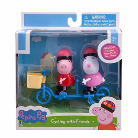 Peppa & Suzy Sheep Bicycling Together Play Set