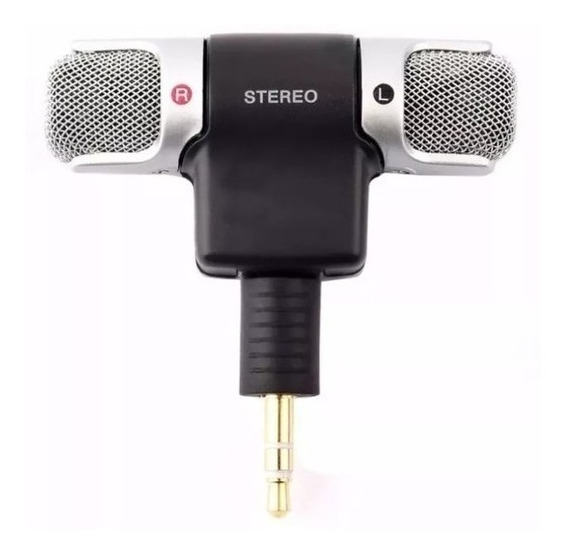 Microfone Mini Stéreo P2 Celular Android Ios Camera Prnt Ent