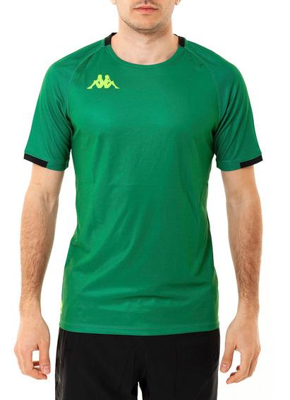 Camiseta Abou 2 Green-black S Verde Hombre Kappa