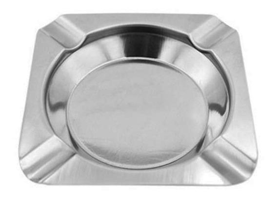 Cenicero Cuadrado Acero Inox 12x12 Cm Metalico D+m Bazar