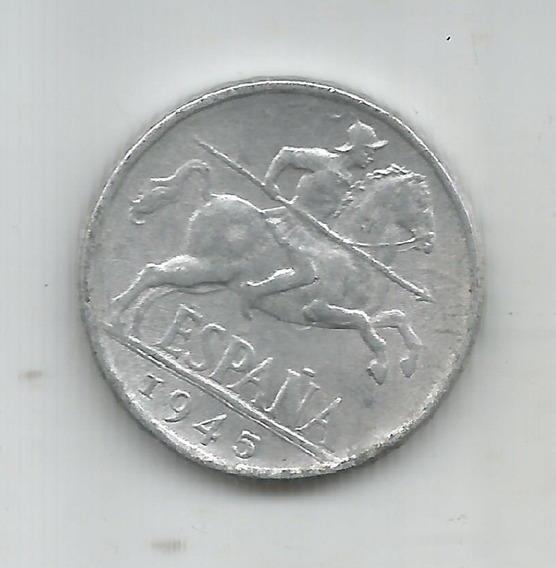 M 6299 España Moneda 10 Centimos 1945