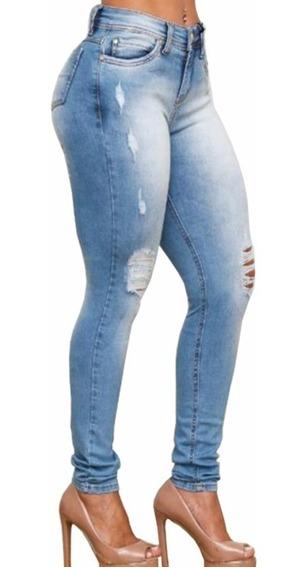 Calça Jeans Feminina Colcci Skinny Destroyed Fátima Délavé