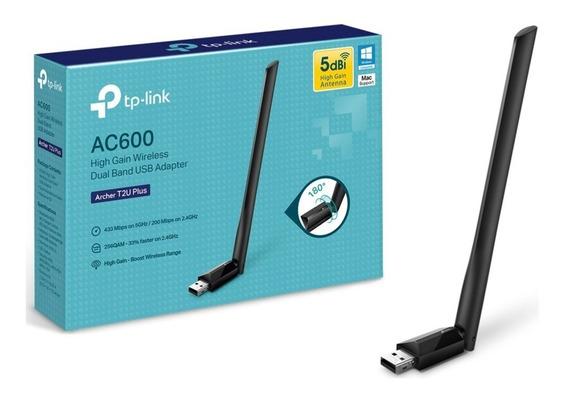 Adaptador Usb Wifi Tp-link Archer T2u Plus Ac600 Dualband
