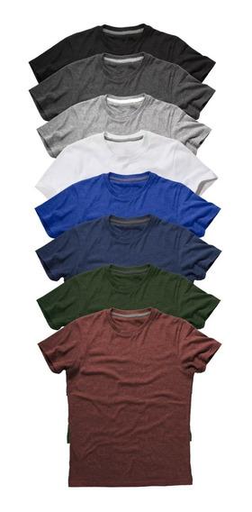 Kit 10 Camisetas Atacado Masculinas Lisa Silk Screen Revenda