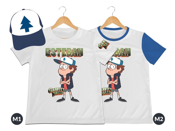 Camiseta Mas Gorra Gravity Falls Dipper Mabel Personalizada