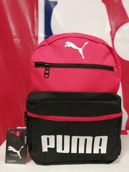 Mochila Backpack Puma Roja-negra.