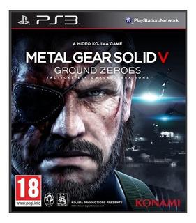 Metal Gear Solid 5 Ps3 Ground Zeroes Original Oferta Ps3 Psn