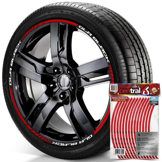 Filete De Roda Mercedes-benz Gla Black Refletivo Vermelho