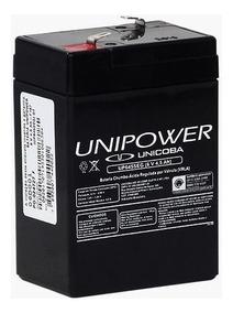 Bateria 6v 4,5ah Unipower - Moto Elétrica, Brinquedos