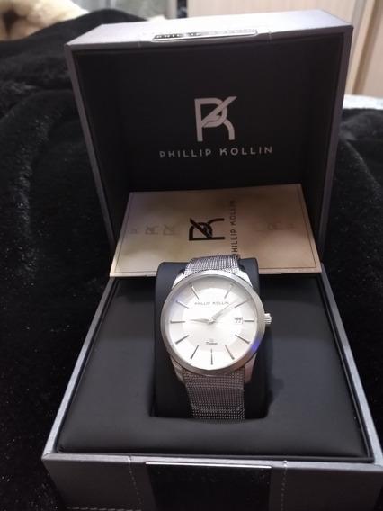 Relógio Phillip Kollin,diamond Silver White