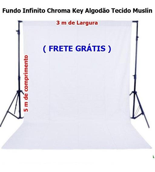 Fundo Infinito Algodão Muslin Cor Branco 3m X 5m
