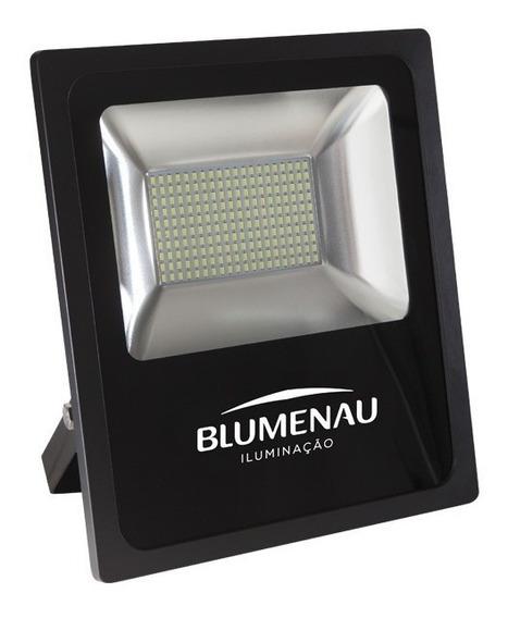 Refletor Led 100w Slim 6000k Luz Branca Ip65 Blumenau Com Nf
