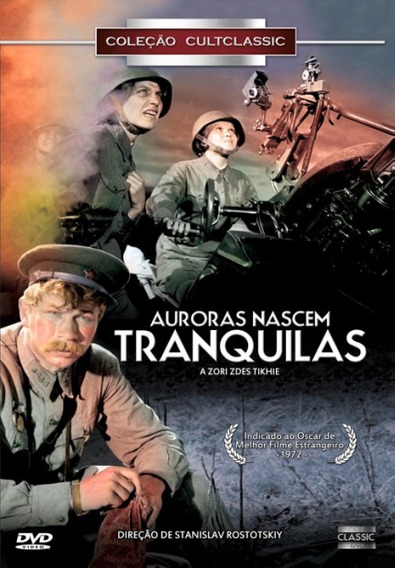 Dvd Auroras Nascem Tranquilas, Filme De Guerra, Russo 1972 +