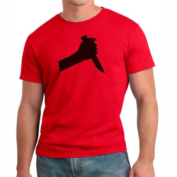 Camiseta Cuidado Com A Faca
