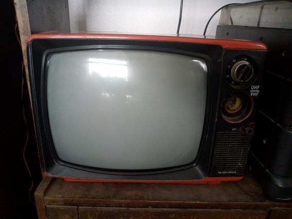 Televisão Vintage Antiga Vermelha Para Decoraçao Linda Retrô