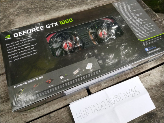 Tarjeta De Video Geforce Gtx1060 6gb Pny Xlr8 Gamingoc Nueva