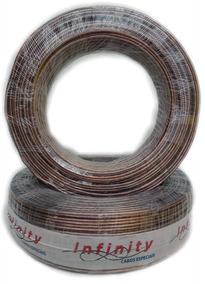 Fio Bicolor Paralelo Cristal Rolo 100 Metros Cabo 2x 2,5mm