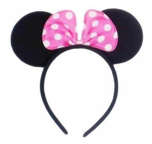 12 Diademas Minnie Mouse Mimi Orejas Moño Rosa Niña