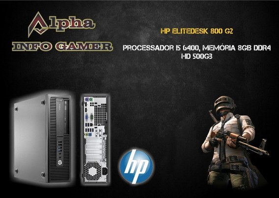 Pc Hp Elitedesk 800 G2, I5 6500, 8gb Memória Ddr4, Hd 500gb