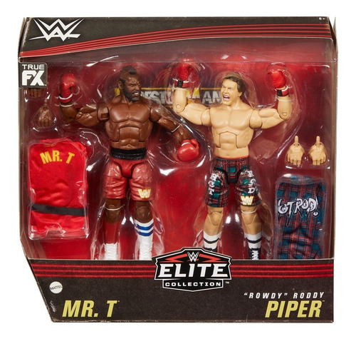Imagen 1 de 6 de Mr. T Y  Rowdy  Roddy Piper 2 Pack Wwe Elite Collection