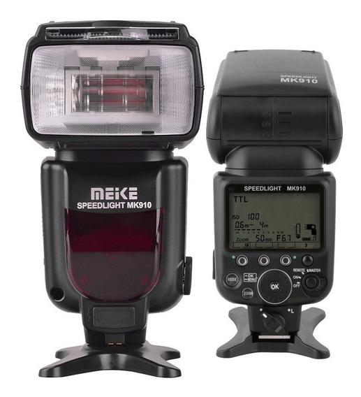 Flash Meike Mk-910 Speedlite Igual Sb910 Nikon Ttl 12x