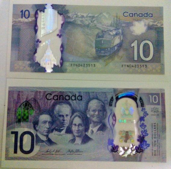 Cédula Canada 10 Dólares Edição 150 Anos