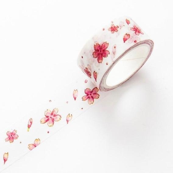 Washi Tape Fita Adesiva Colorida E Decorada Sakura I