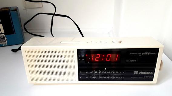 Rádio Relógio National Rc 6070 Anos 80 Fm Am Caixa Original