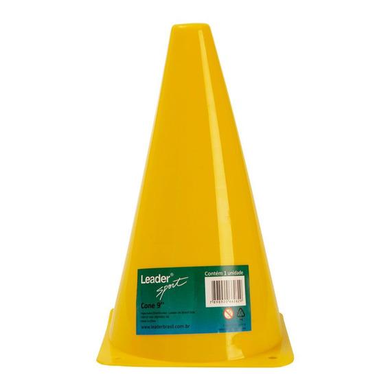 Cone 9 Sem Furo Amarelo Ld262 - Leader