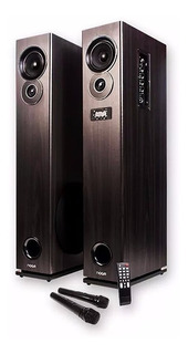 Parlantes Bluetooth Karaoke Noga Track 60w 2 Microfonos