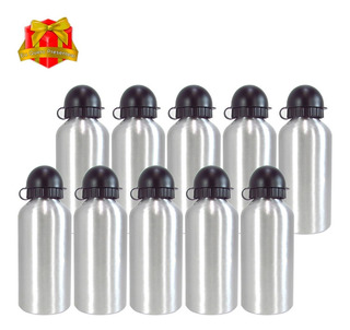 15 Squeeze Sublimação Garrafa Aluminio Prata 500ml