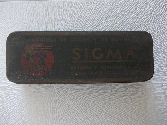 Sigma- Antigua Lata Envase Maquina De Coser Y Bordar