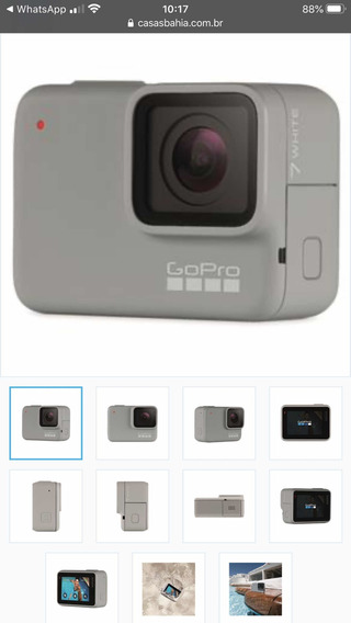 Câmera Digital E Filmadora Gopro Hero 7 White À Prova Dágua