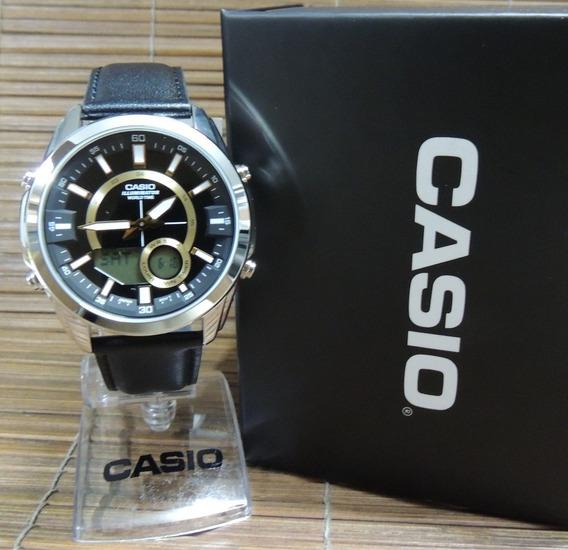 Relógio Casio Hora Mundial / Cronógrafo Amw-810l-1avdf - Nf