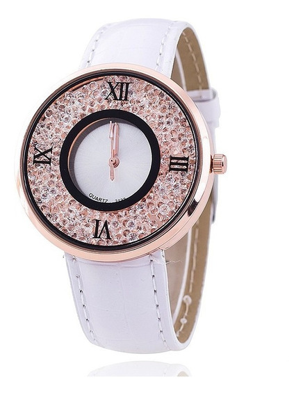 Relógio Feminino Cristal Importado Pronta Entrega