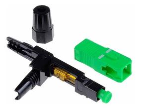 Conector Fast Rápido Fibra Óptica Verde Sc/apc 100 Unidades