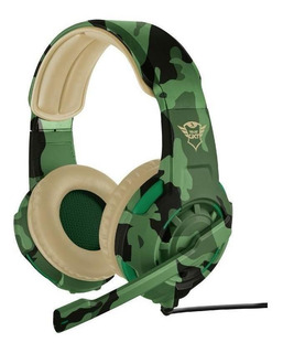 Audifono Diadema Gamer Trust Gxt 310c Radius Jungle Camo 3.5