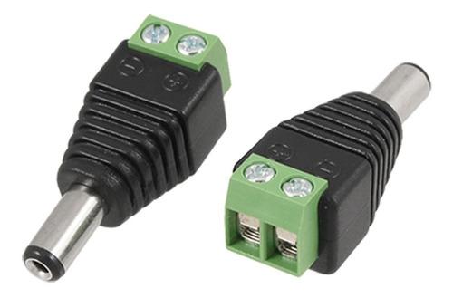 Imagen 1 de 6 de Conector Ficha Plug Cctv Macho Cámara Seguridad Dc Bornera