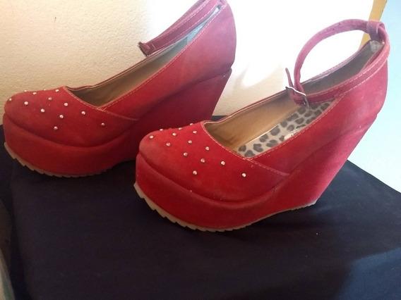 Zapatos Con Plataforma Rojos