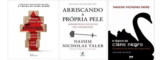Kit 3 Livros Nassim Nicholas Taleb Arriscando Pele Cisne