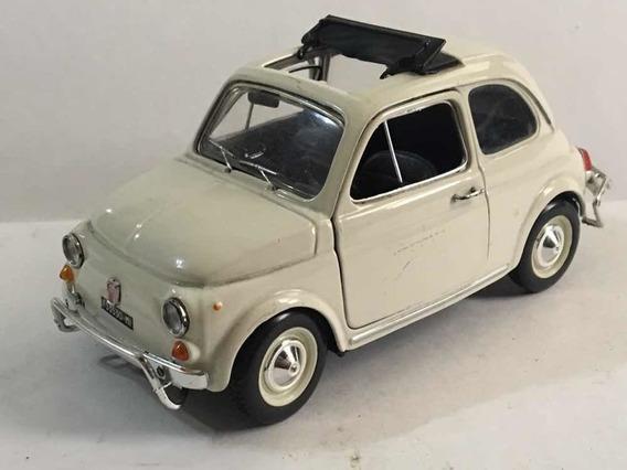Fiat 500 Burago Escala 1/21. Cuenta Con 14 Cm De Largo