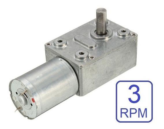 Micro Motor Redutor 12v Dc 3rpm Caixa De Redução Bloqueio